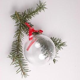 Noël ! Boule de Noël en verre