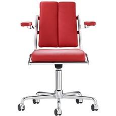 Chaise de bureau, pivotante avec accoudoirs