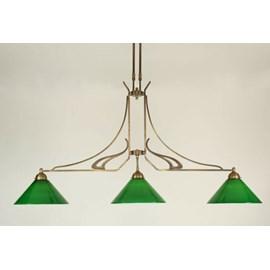 Lampe en T 3 lumières jugendstil