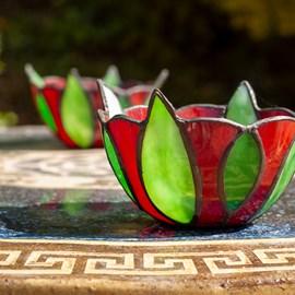 Bougeoir Tiffany Porte-bougie Sweet Bell Flower