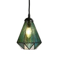 Tiffany Lampe de Pédalier Arata Vert
