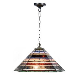 Tiffany Lampe Suspension Industrielle Grande