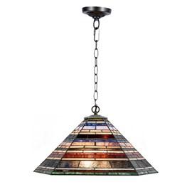 Tiffany Lampe Suspension Industrielle Grande