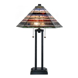 Tiffany Lampe de table industrielle grand format