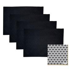Set de 4 sets de table Jacquard & 20 serviettes en papier | Gatsby