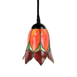 Pendentif Tiffany Lampe Lovely Flower Rouge