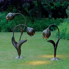 Lampe d'extérieur Jugendstil Jugendstil fleurs bourgeons en métal
