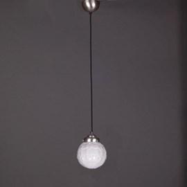 Pendentif Lampe Lin Vieux Cordon Vintage Artichaut