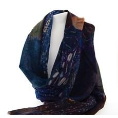 Foulard Klimt'Femme en bleu'.