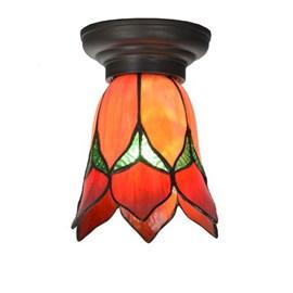 Petite lampe de plafond Tiffany Lovely Flower Rouge
